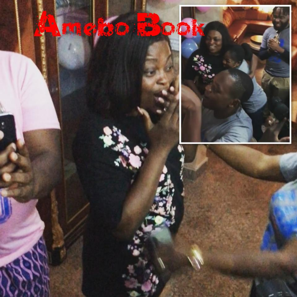 Funke Akindele Surprise Birthday Party From Husband JJC Skillz And Crew Members