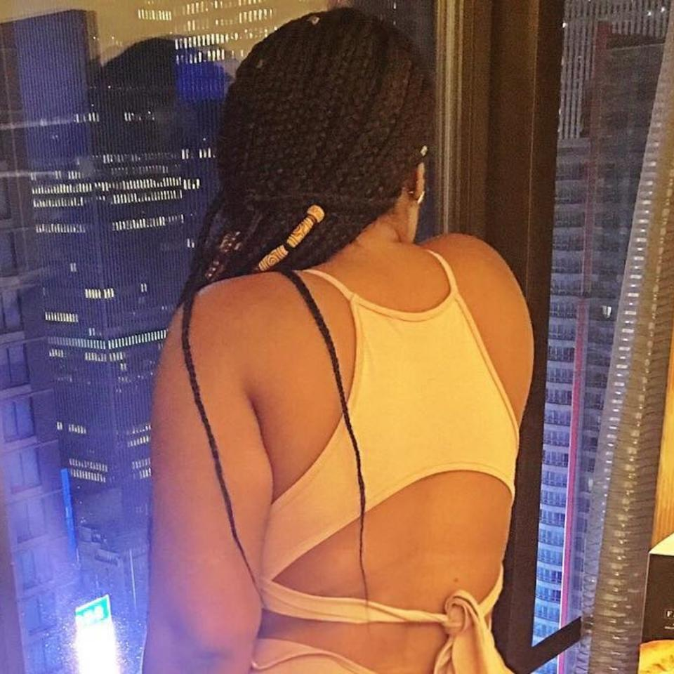 Moesha Boduong Puts Her Enormous Butt On Display
