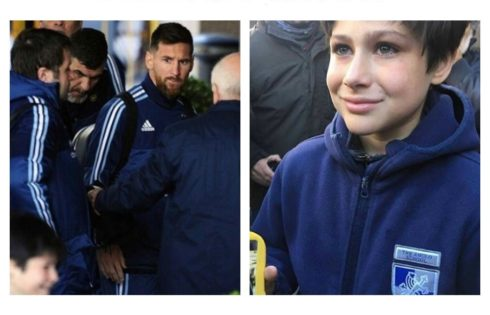Lionel Messi Saved Kid Who Ran Up To Greet Him From Security Guard