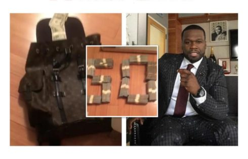 50 Cent Flashes Serious Cash