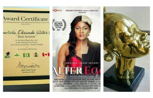 Omotola Jalade-Ekeinde Awarded Best Actress At The Nollywood Travel Film Festival