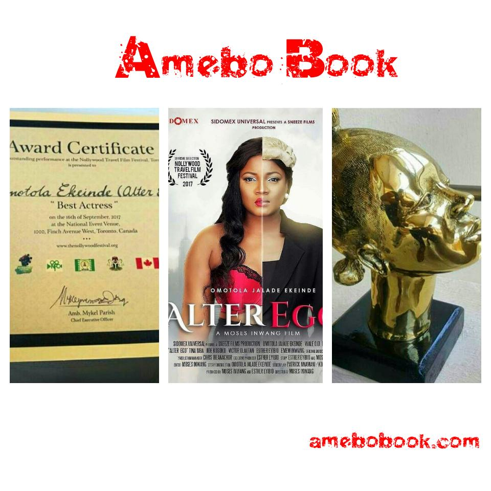 Omotola Jalade-Ekeinde Awarded Best Actress At The Nollywood Travel Film Festival