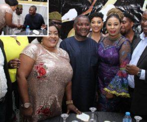 Foluke Daramola Met The Richest Man In Africa Aliko Dangote At A Reception Party