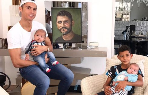 Tribute Cristiano Ronaldo Paid To His Late Father Alongside Newborn Twins