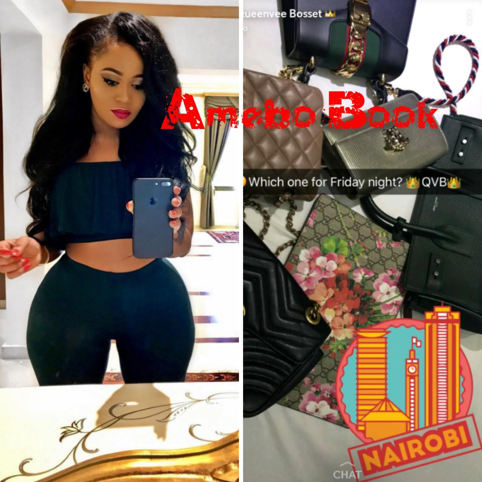 Vera Sidika Shows Off Her Collection Of Designer Bags