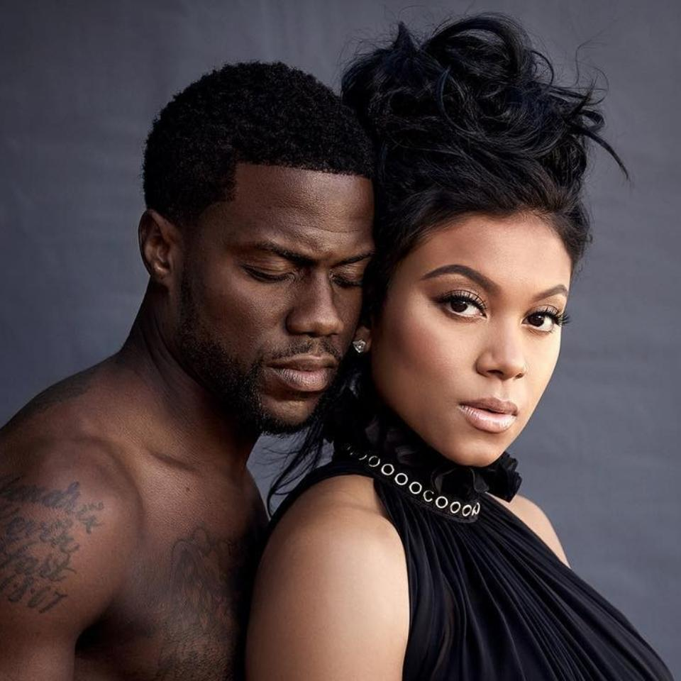 Kevin Hart Shirtless Maternity Photoshoot With Wife Eniko