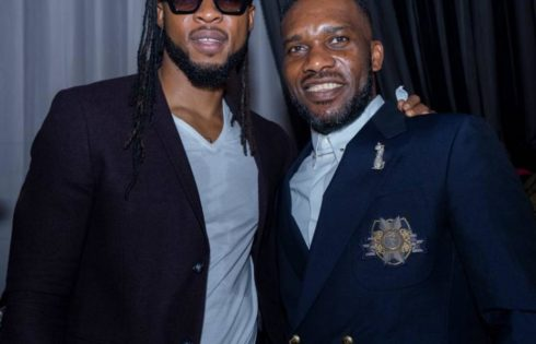 Flavour And Jay Jay Okocha Pictured Together