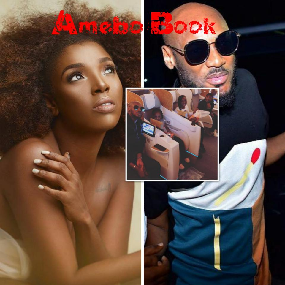 Annie Idibia Birthday Vacation: Tuface Alongside Wife And Kids Pictured On The Plane