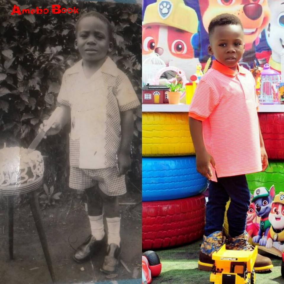 Junior Pope Shares Side-By-Side Photo Of Himself And Son On 3rd Birthdays