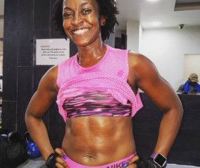 Kate Henshaw Unleashes Her Muscular Body With Six Packs