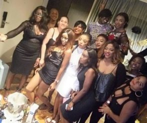Photos From Oritsefemi's Wife's Bridal Party