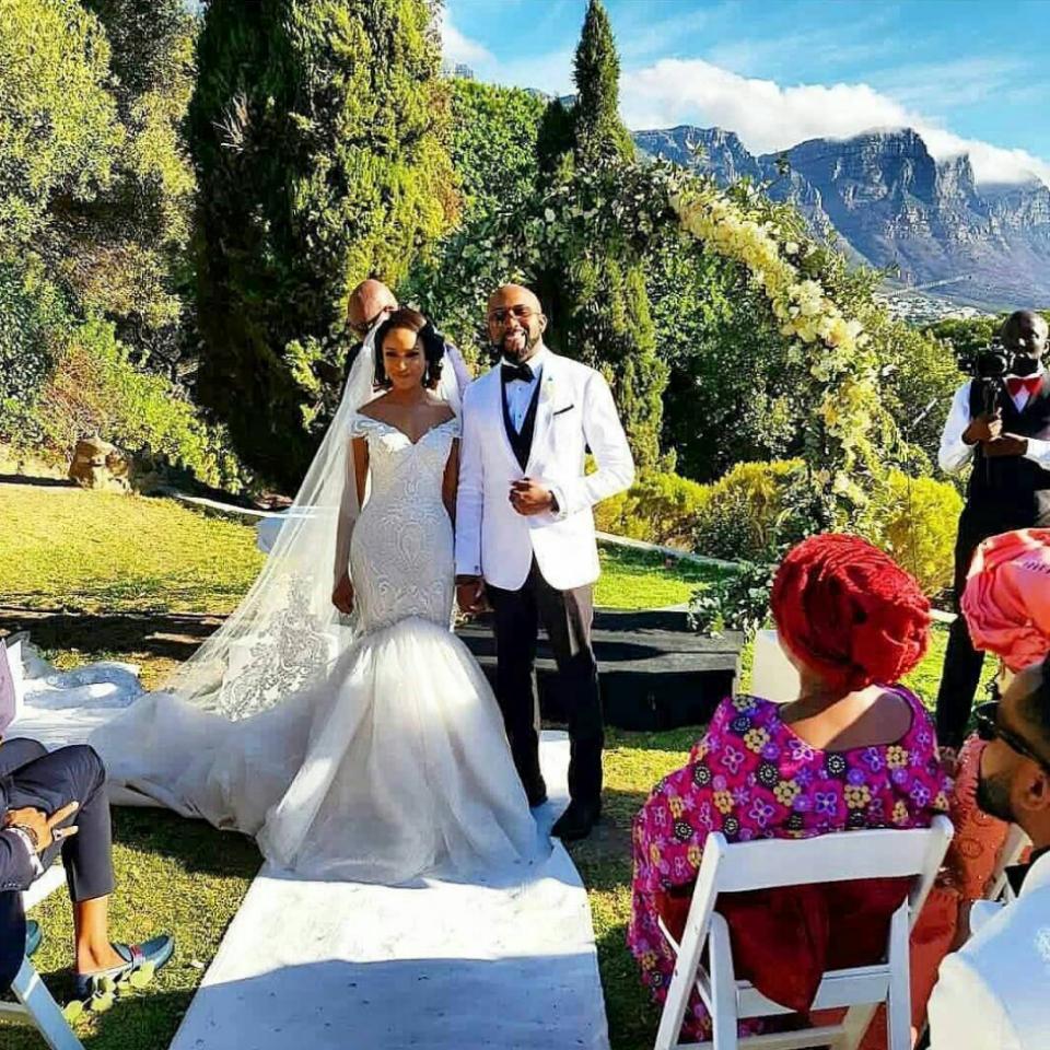 Banky W And Adesua Etomi's Wedding