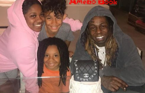 Lil Wayne Pictured With His Lovely Kids