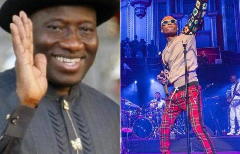 Goodluck Jonathan Hails Wizkid For Emerging Best International Act At MOBO Awards 2017