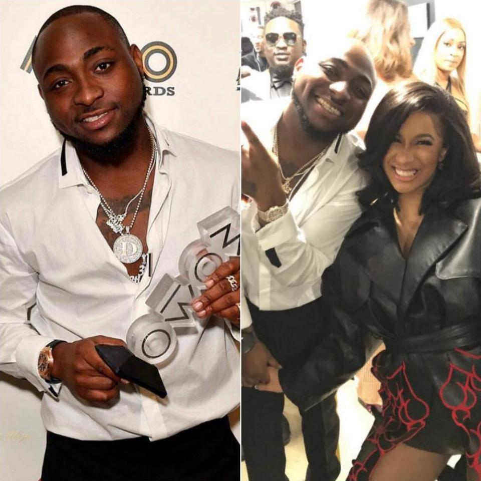 Davido Pictured Alongside Cardi B At The MOBO Awards 2017