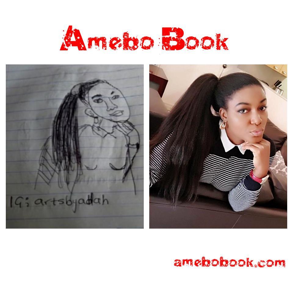 Queen Nwokoye Reacts After Seeing Artist Sketch Of Her