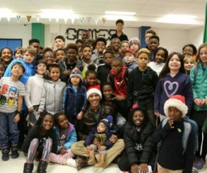 Barack Obama Dressed Up As Santa During Visit To D.C. Boys & Girls Club