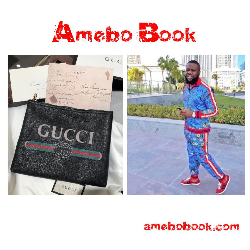 Hushpuppi Shares Gifts And Note Given To Him By Gucci To Enjoy Christmas Holiday