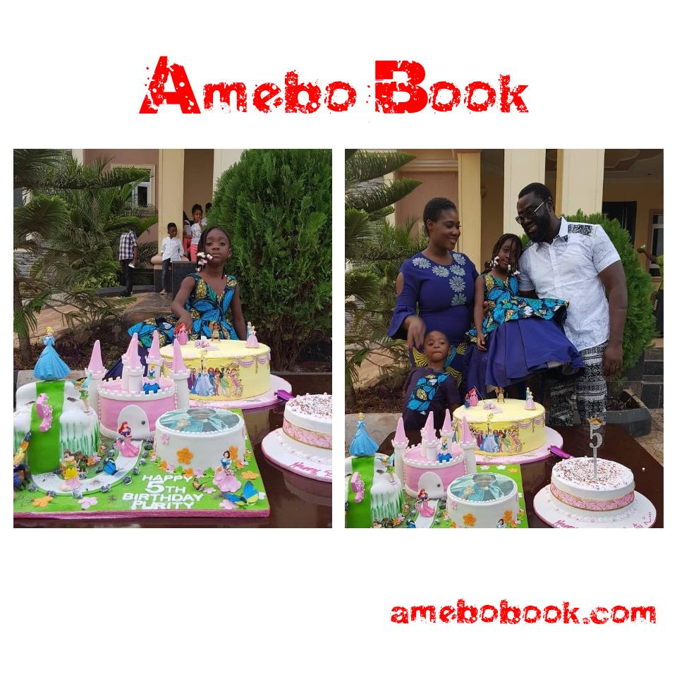 Mercy Johnson And Husband Prince Odi Okojie Celebrated Purity's 5th Birthday