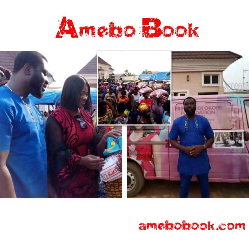 Mercy Johnson And Husband Prince Odi Okojie Donate Food To The Needy