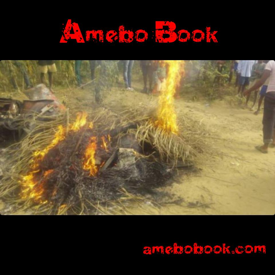 Suspected Armed Robbers That Were Burnt To Ashes In Akwa Ibom