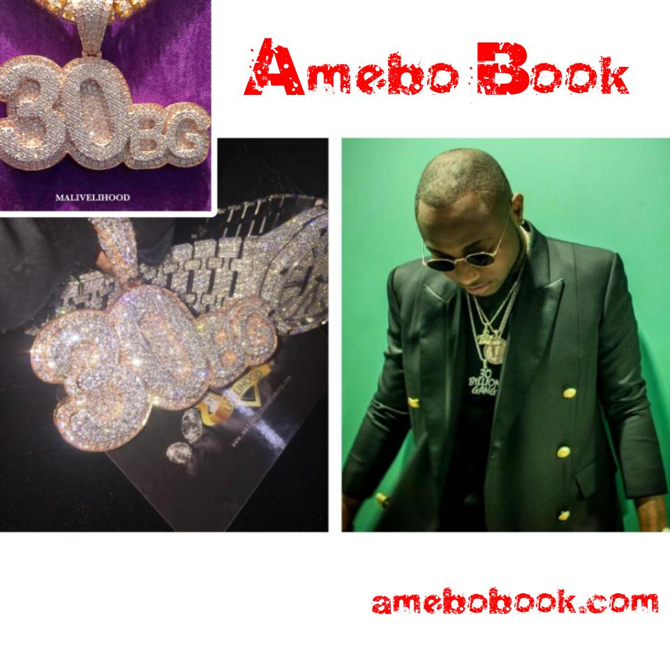 Davido Shows Off His Newly Acquired Diamond Chain And Watch