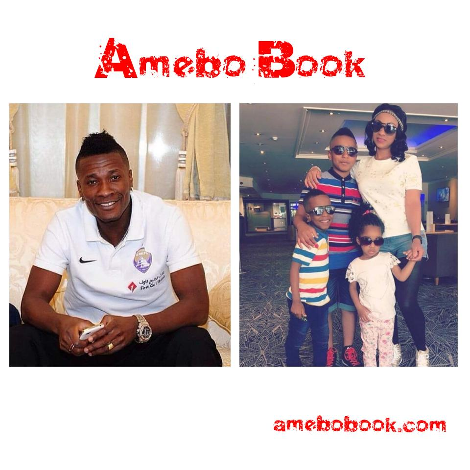 Asamoah Gyan Has A Beautiful Wife And Is Also Blessed With These Children