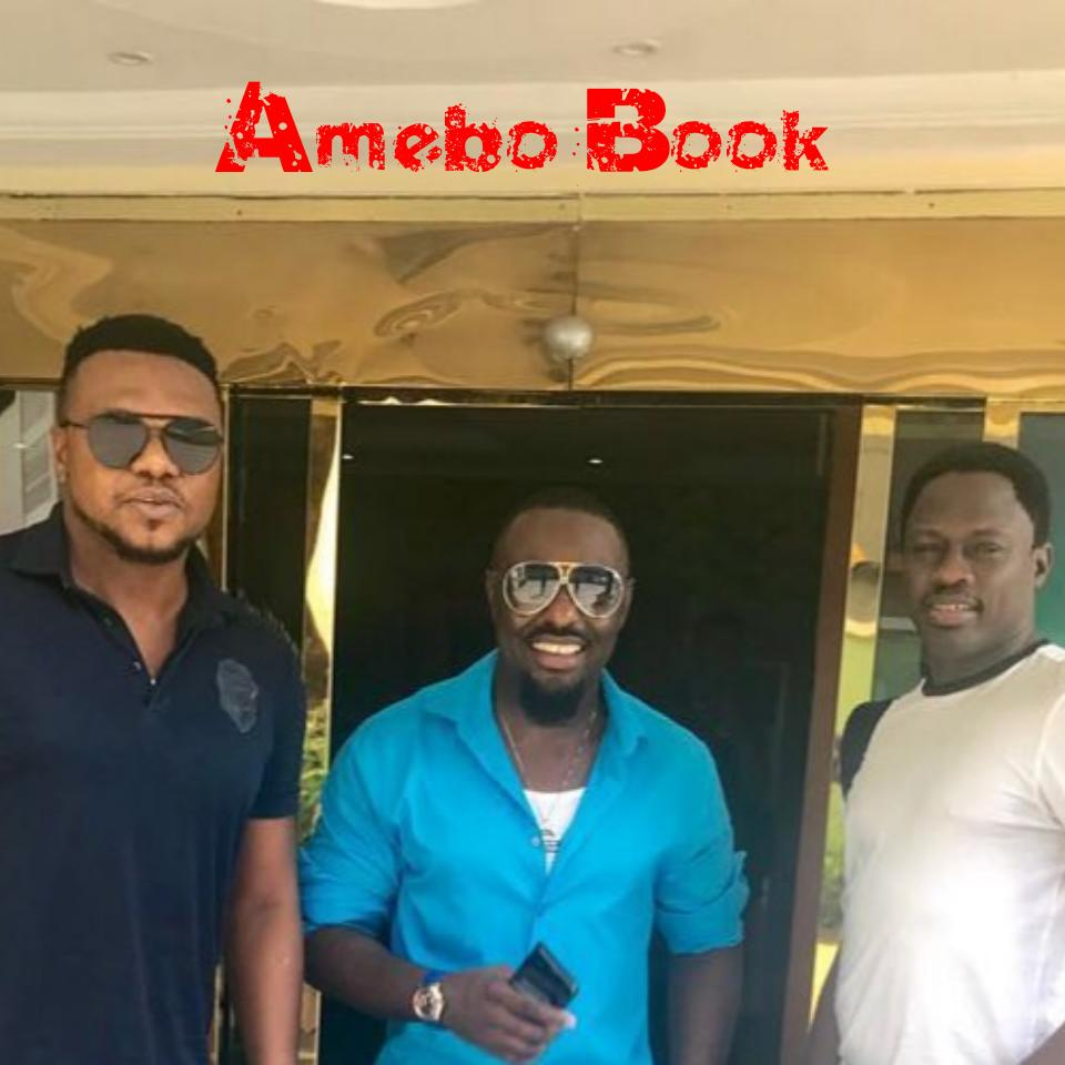 Jim Iyke Poses With Ken Erics And Ali Nuhu