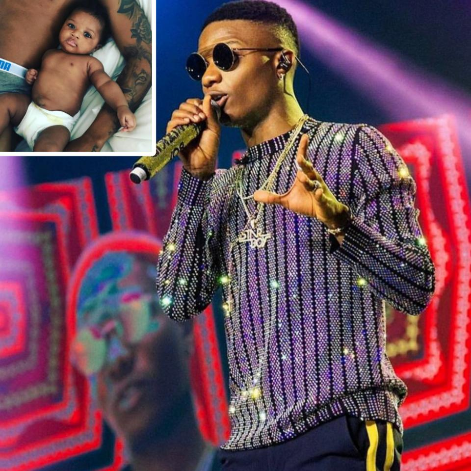 Wizkid Gushes Over 3rd Son Zion Ayo-Balogun