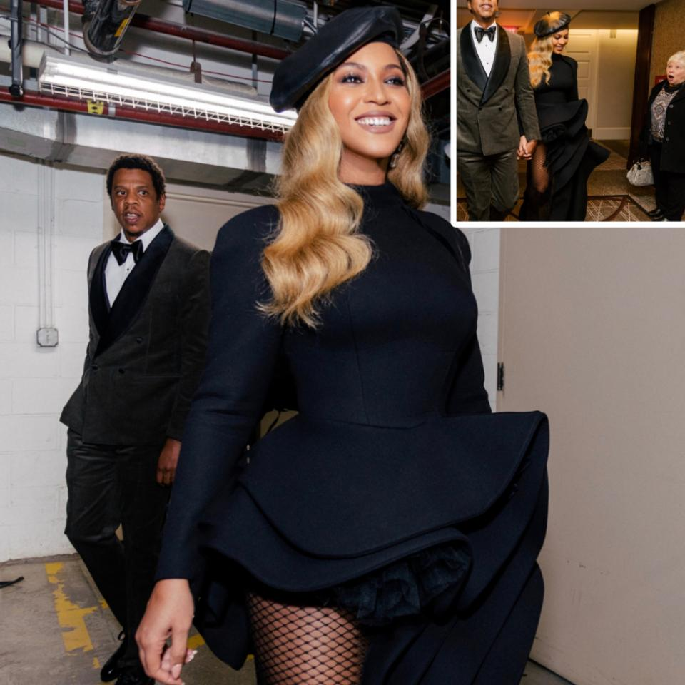 Facial Expression On Woman After She Bumped Into Beyonce And Jay-Z