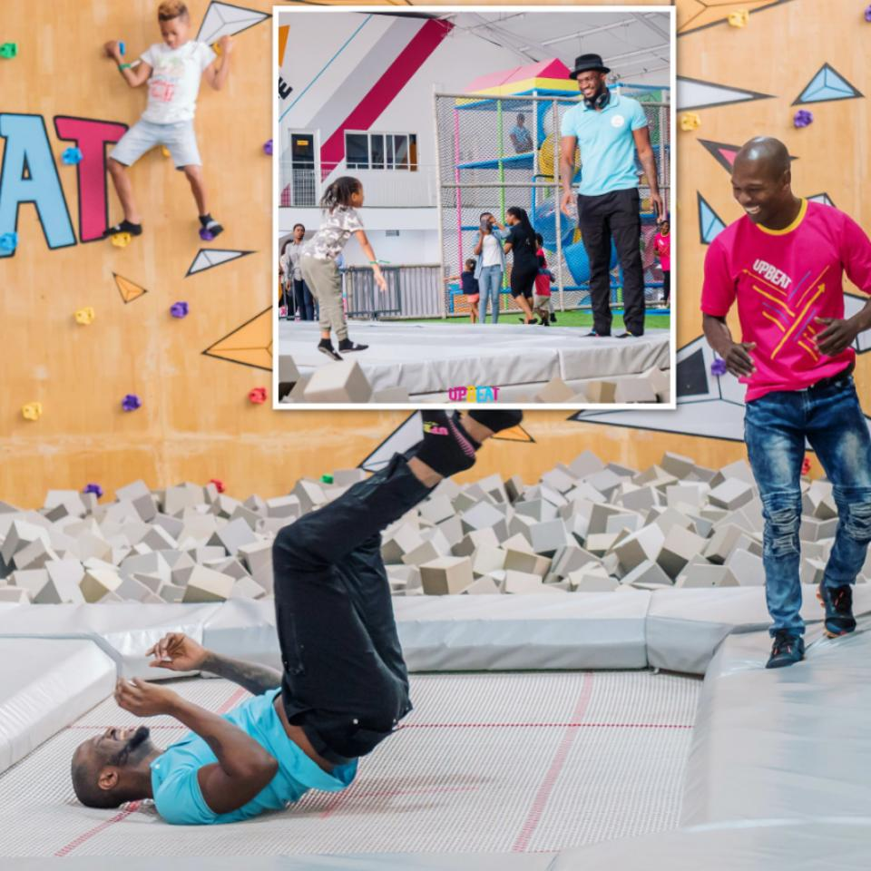 Peter Okoye Chilling At Upbeat Centre
