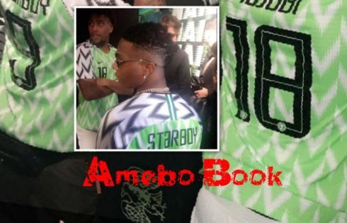 Wizkid And Alex Iwobi model The New Super Eagles Jersey