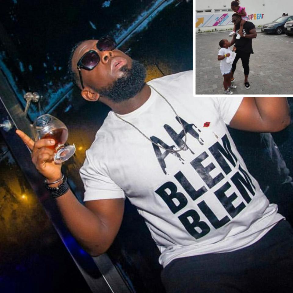 Timaya Pictured On Day Out With His Daughters (2)
