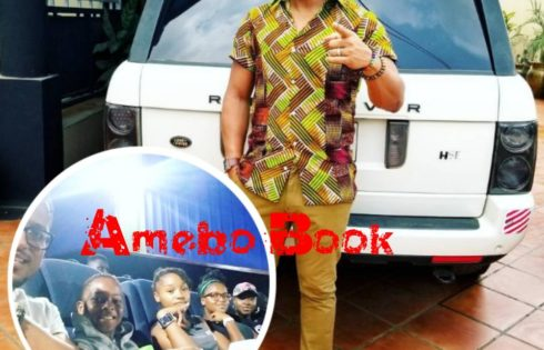 Van Vicker And His Family Pictured At The Cinema