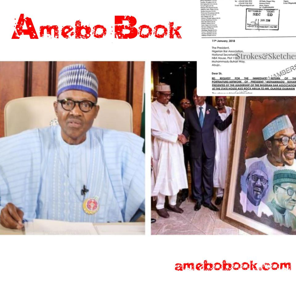 Man Drags The Nigerian Bar Association To Court For Presenting His Artwork To Buhari Without His Authorization After They Had Initially Said The President Won't Receive Such