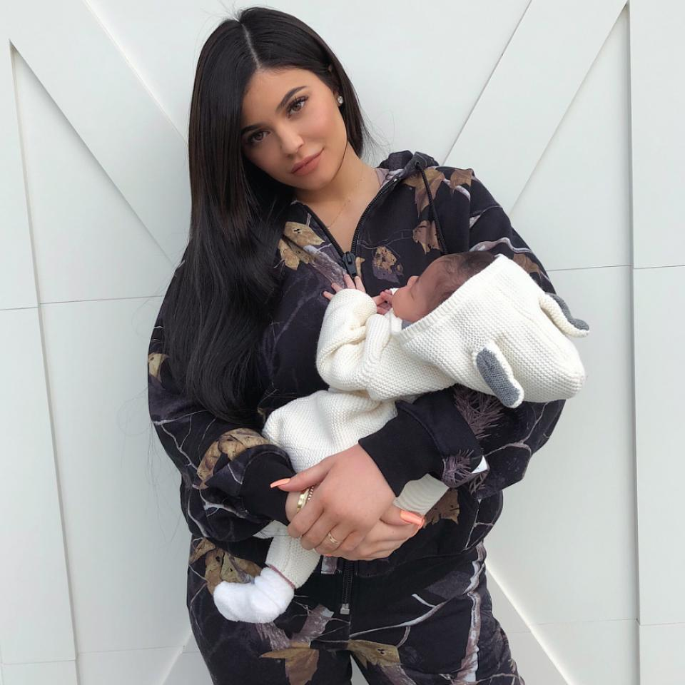 Kylie Jenner Shares First Photo Of Herself Cradling Daughter Stormi