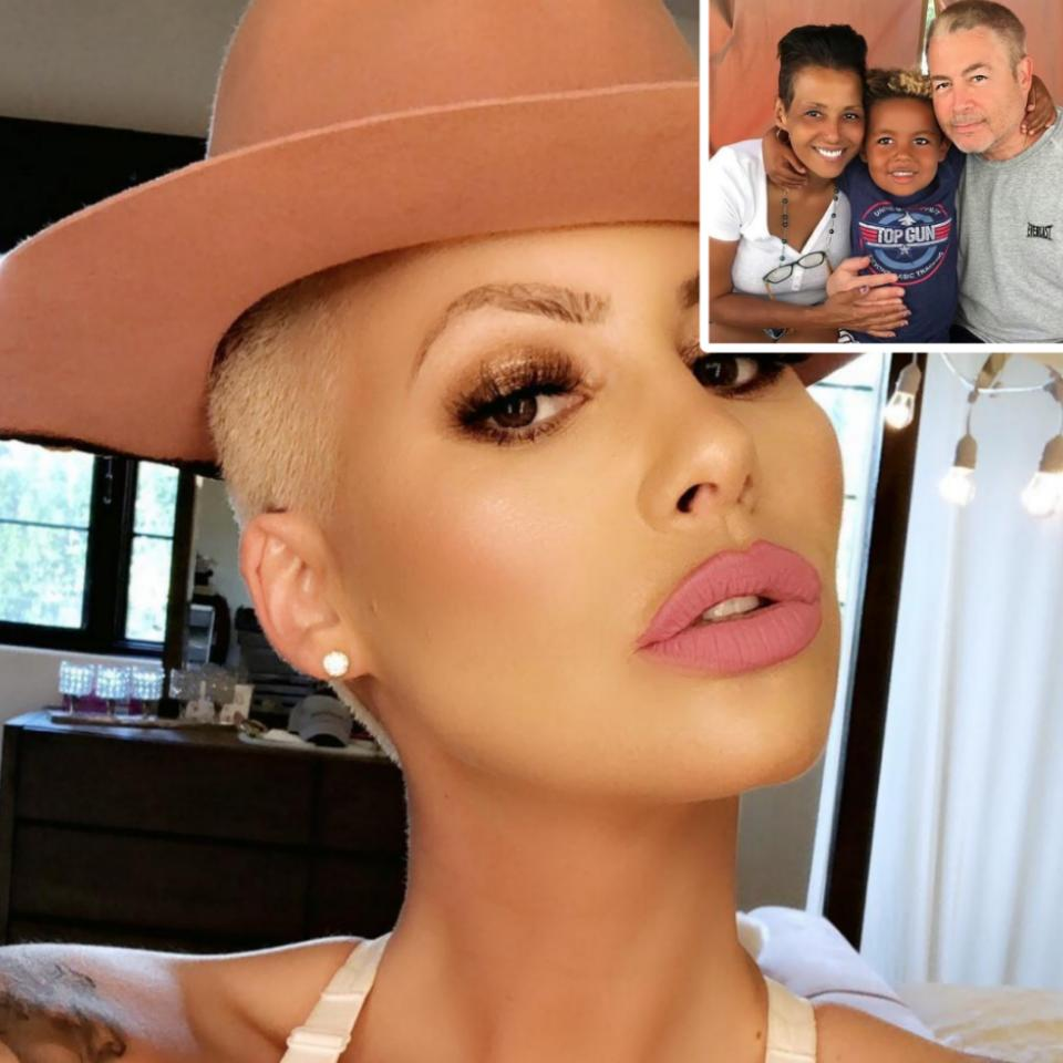 Amber Rose Shares Sweet Snap Of Her Parents With Son Sebastian Taylor Thomaz