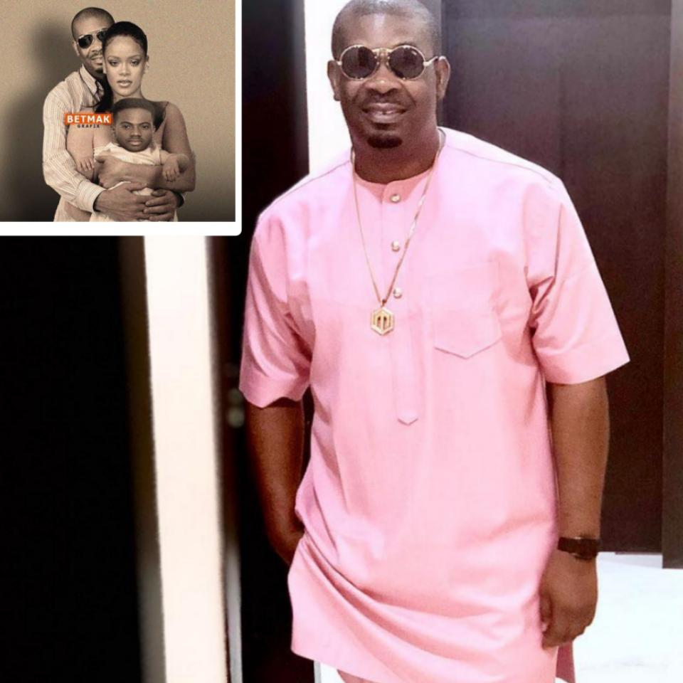Photoshopped Image Of Don Jazzy With Rihanna As His Wife And Korede Bello As Their Baby