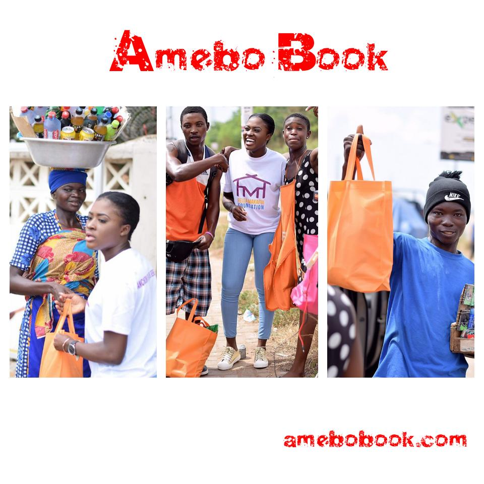 Fella Makafui Went Round The Streets Of Accra Giving Out Gifts To Handicaps