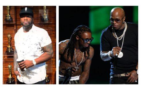50 Cent Thinks Lil Wayne And Birdman Hug A Real Hip-Hop Moment