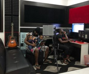 Paul Okoye Receives His Twins In The Studio
