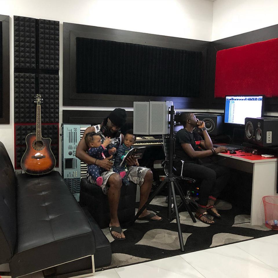 Paul Okoye Receives His Twins In The Studio
