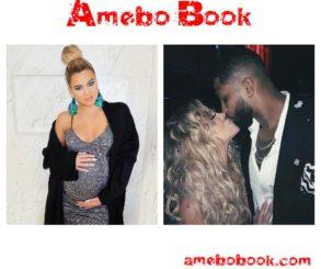 Khloe Kardashian And Tristan Thompson Cradling Her Bare Baby Bump