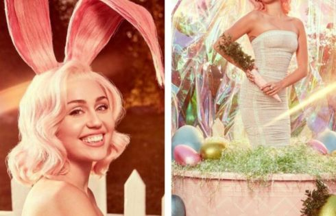 Miley Cyrus Celebrates Easter With Photos Of A Bunny Spanking Her