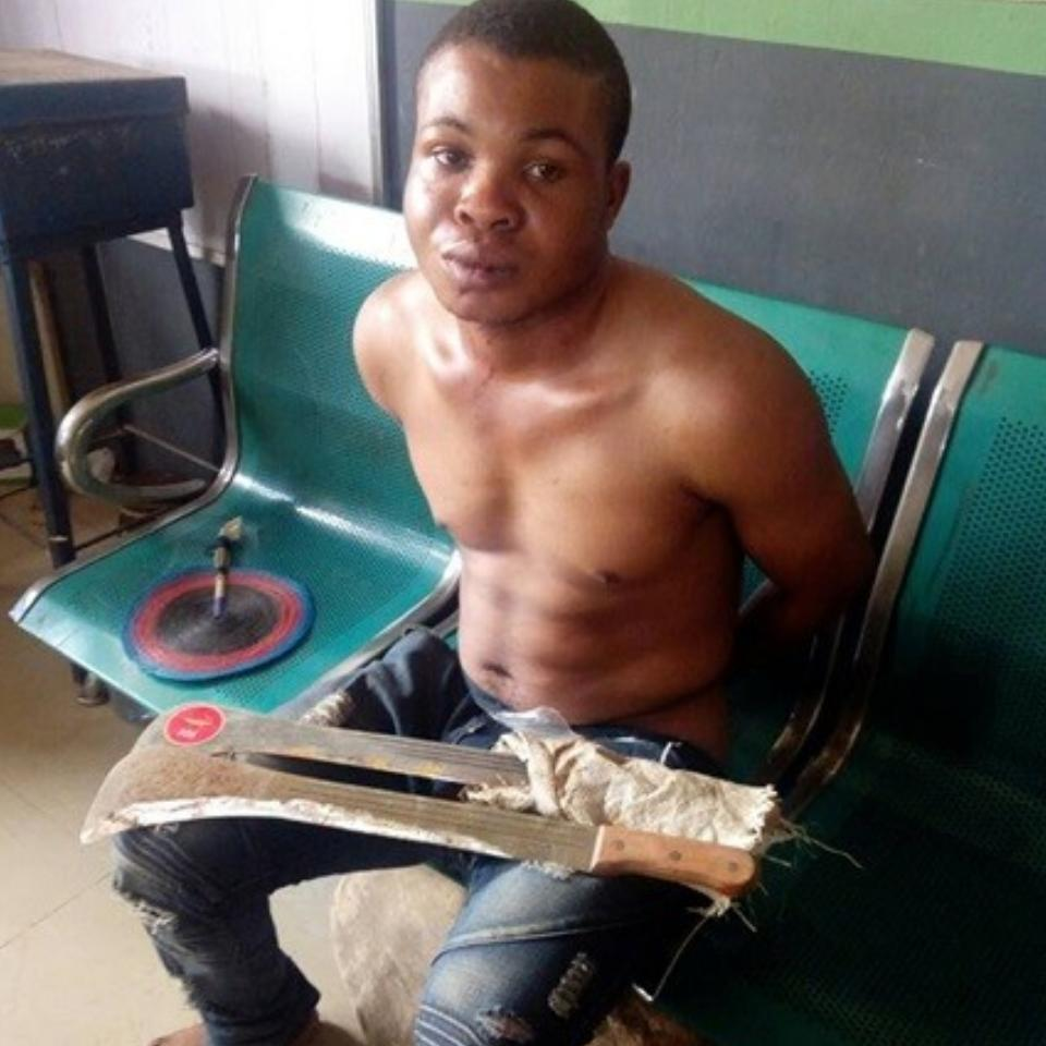 Man Arrested After He Hacked His Elder Brother And Sister-In-Law To Death