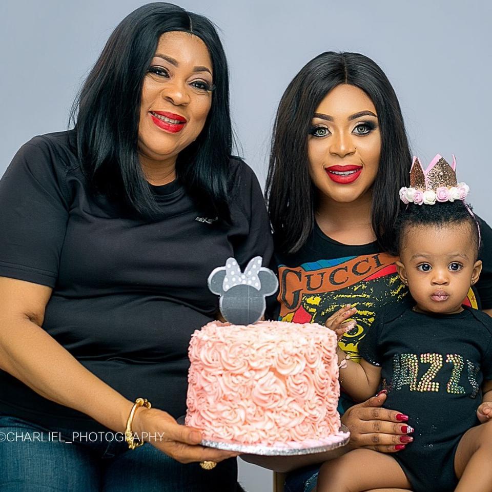 Mimi Orjiekwe Celebrates Daughter's 1st Birthday With Three Generations Family Photos
