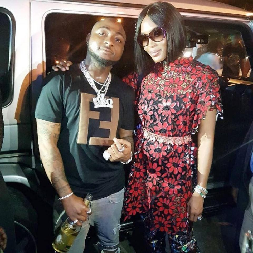 Davido Pictured With Naomi Campbell