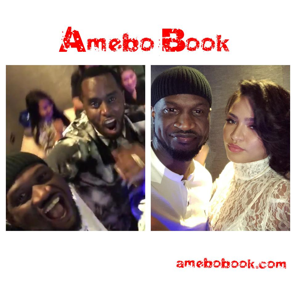 Peter Okoye Chilling With Diddy And Cassie In Abu Dhabi