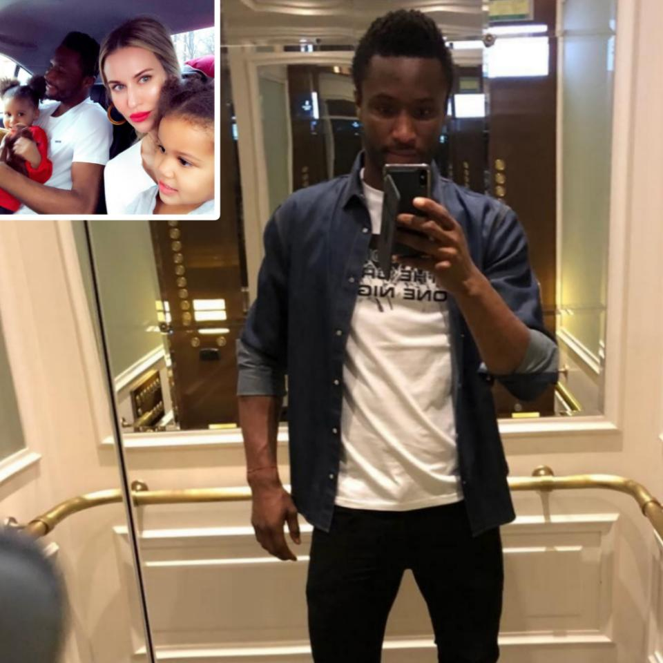 Mikel Obi And Family Pose For Quick Snap
