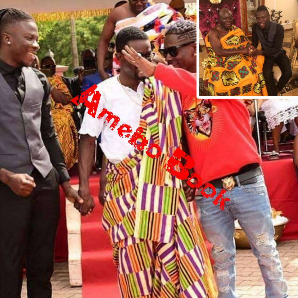 Shatta Wale And Stonebwoy Unite On Visit To King Of The Ashanti Kingdom